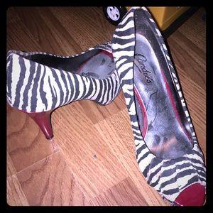 Red zebra heel